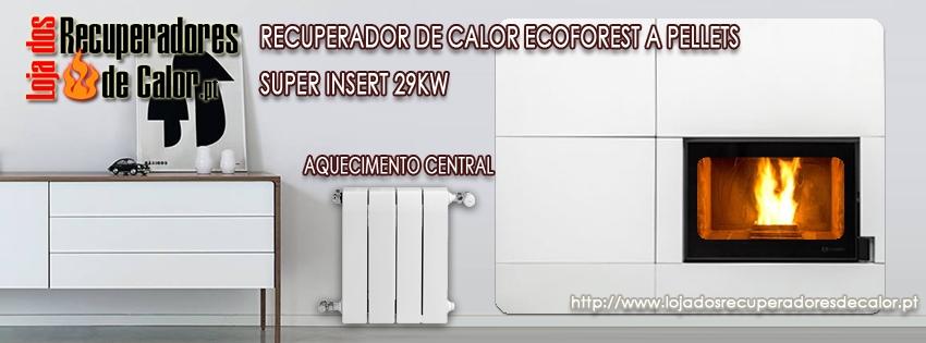Recuperador Ecoforest Superinsert - Aquecimento central